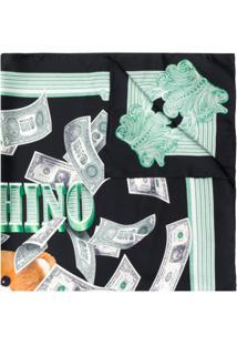 Moschino Echarpe Dollar Teddy Bear - Preto