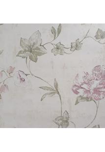 Kit 2 Rolos De Papel De Parede Fwb Floral Rústico Rosa Folhas Verde