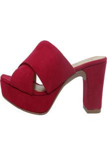 Tamanco Arrive Fashion Cris Vermelho
