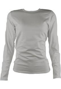 Camisa Térmica Feminina Segunda Pele Thermo Premium - Feminino-Cinza