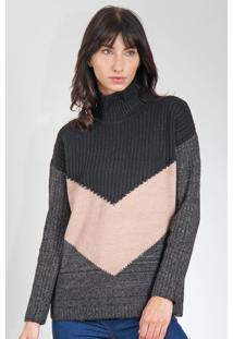 Blusa Calvin Klein Jeans Preta/Rosa