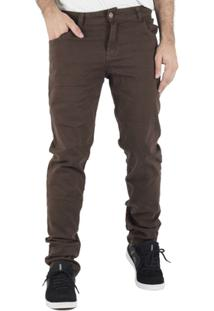 Calça Prime Sarja Marrom - Masculino