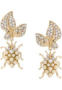 Dolce & Gabbana Par De Brincos Com Pingente - Dourado
