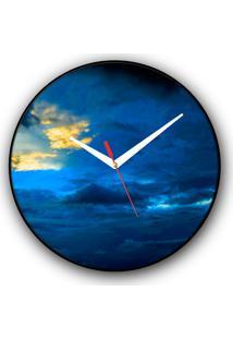Relógio De Parede Colours Creative Photo Decor Decorativo, Criativo E Diferente - Nuvem
