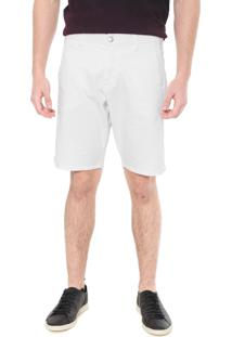 Bermuda Sarja Calvin Klein Jeans Chino Estampada Branca