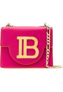 Balmain Bolsa Tiracolo B-Bag 21 De Couro - Rosa