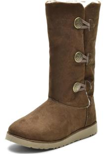 Bota Cano Médio Inverno Snap Shoes Caramelo