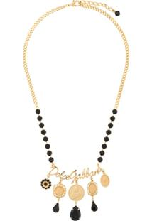 Dolce & Gabbana Colar Com Medalhões - Dourado