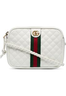Gucci White Gg Small Quilted-Leather Shoulder Bag - Branco
