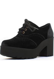 Oxford Damannu Shoes Veludo Preto