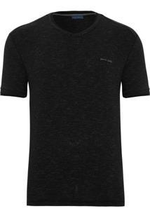 Camiseta Slim Listras Preta