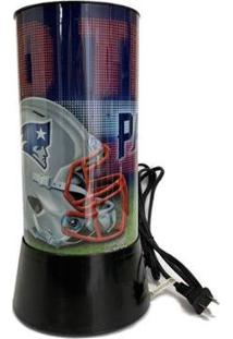 Luminária Rotativa 30Cm Nfl New England Patriots 120V - Unissex-Azul