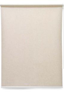 Cortina Soft Jacquard 2 Folhas 120X160 - Evolux - Bege Médio