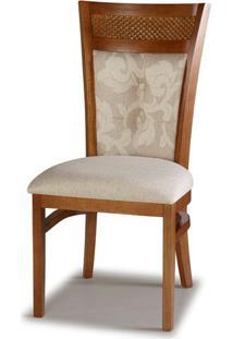 Cadeira Jurere Madeira Capuccino Cor Glace Floral - 28465 - Sun House
