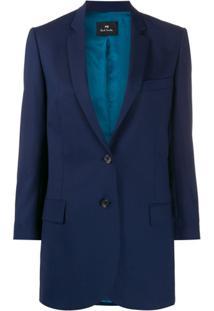 Ps Paul Smith Blazer Oversized - Azul