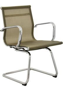 Cadeira Office Sevilha Fixa Tela Dourado Rivatti Móveis