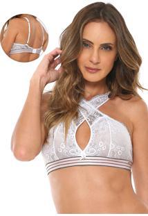 Sutiã Morena Rosa Triângulo Bralette Branco