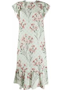 Redvalentino Vestido Reto Com Estampa Floral - Verde
