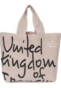 Bolsa Shopping Bag Ecojuta Osklen - Bege