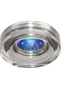Spot Embutir De Metal Shine 5Cmx10Cm Bella Iluminação Transparente E Cromado