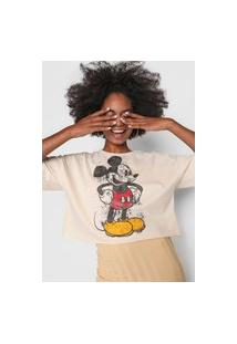 Camiseta Colcci Mickey Off-White