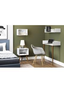 Aparador/Escrivaninha Branco/Carrara Be Mobiliário - Tricae