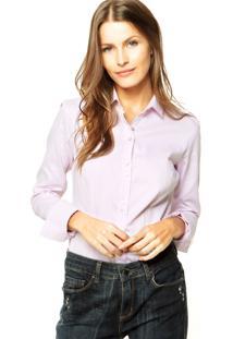 Camisa Colcci Listras Rosa