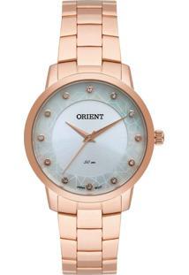 Relógio Orient Feminino Frss0035 S1Rx Rose Gold
