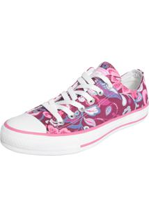 Tênis Converse All Star Ct As Flowers Ox Rosa