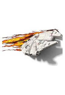 Luminária De Parede - 3D - Disney - Star Wars - Episódio Vii - Milennium Falcon - Beek Geeks