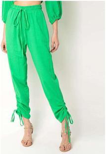 Calça Malha Elora Textura Feminina Verde