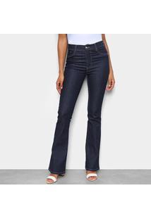 Calça Jeans Flare Sawary Indigo Cintura Alta Feminina - Feminino