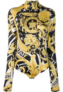 Versace Savage Barocco Bodysuit - Amarelo