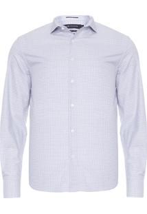 Camisa Masculina Ft Manga Longa - Cinza