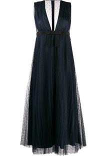 Red Valentino Point D'Esprit Dress - Azul