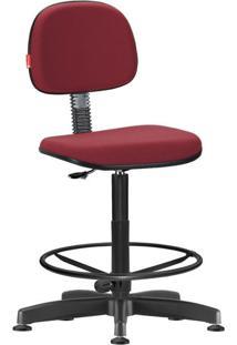Cadeira Caixa Alta Secretária Crepe Vermelho Escuro