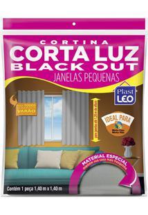Cortina Plast-Leo Blackout Cinza Vinil 140X140Cm