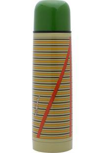Garrafa Térmica Do Chaves®- Inox & Verde- 500Ml-Urban