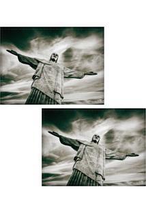 Jogo Americano Colours Creative Photo Decor - Cristo Redentor No Rio De Janeiro, Rj - 2 Peças
