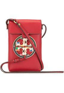 Tory Burch Bolsa Transversal Miller Com Logo - Vermelho
