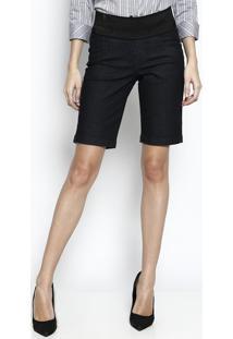 Bermuda Em Sarja Com Elástico - Pretadbz Jeans
