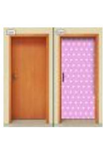 Adesivo Decorativo De Porta - Estrelas - Infantil - Rosa - 1670Cnpt