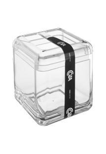 Porta-Escova Cube 8,5 X 8,5 X 10,5 Cm Cristal Coza