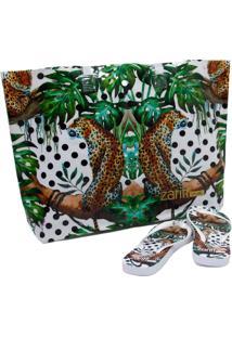 Kit Chinelo Zariff Shoes Animais + Bolsa Verde