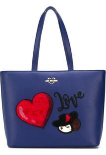 Love Moschino Bolsa Tote 'Love' - Azul