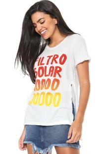 Camiseta Redley Filtro Solar Branca