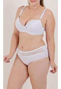 Conjunto De Lingerie Plus Size Feminino Branco