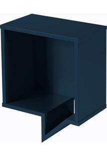 Prateleira Cartoon Quadrada Azul Marinho Laca M505
