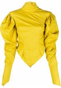 Thebe Magugu Blusa Sulphur - Amarelo