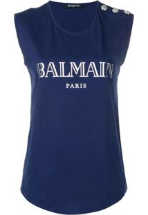 Balmain Regata Com Logo - Azul